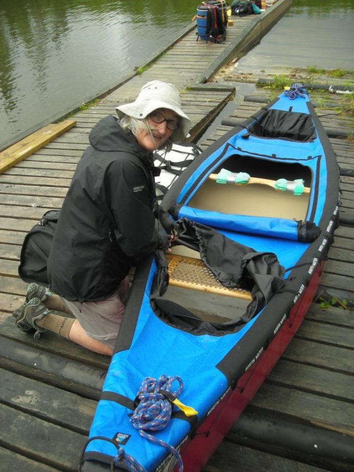 Preparing for the portage out of Lac La Ronge into Hale Lake (Rapid River)