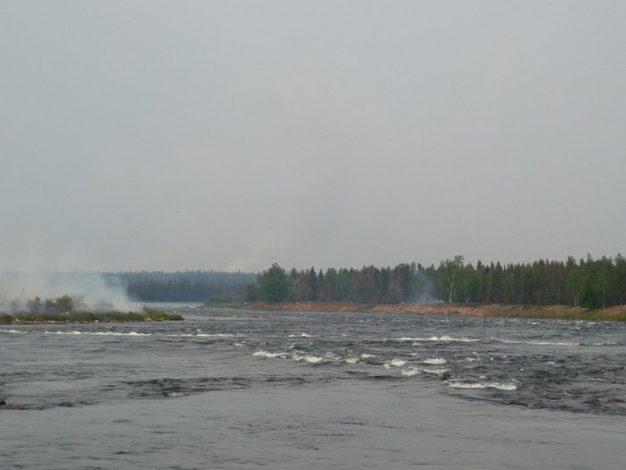 Redbank Rapids, shortly after the fire had gone through