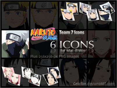 Naruto II Team 7 Icons