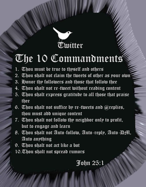 Twitter - The 10 Commandments