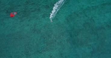 drone photo-Oahu-Kite Surfer