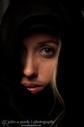 Models-Woman in Black Shroud