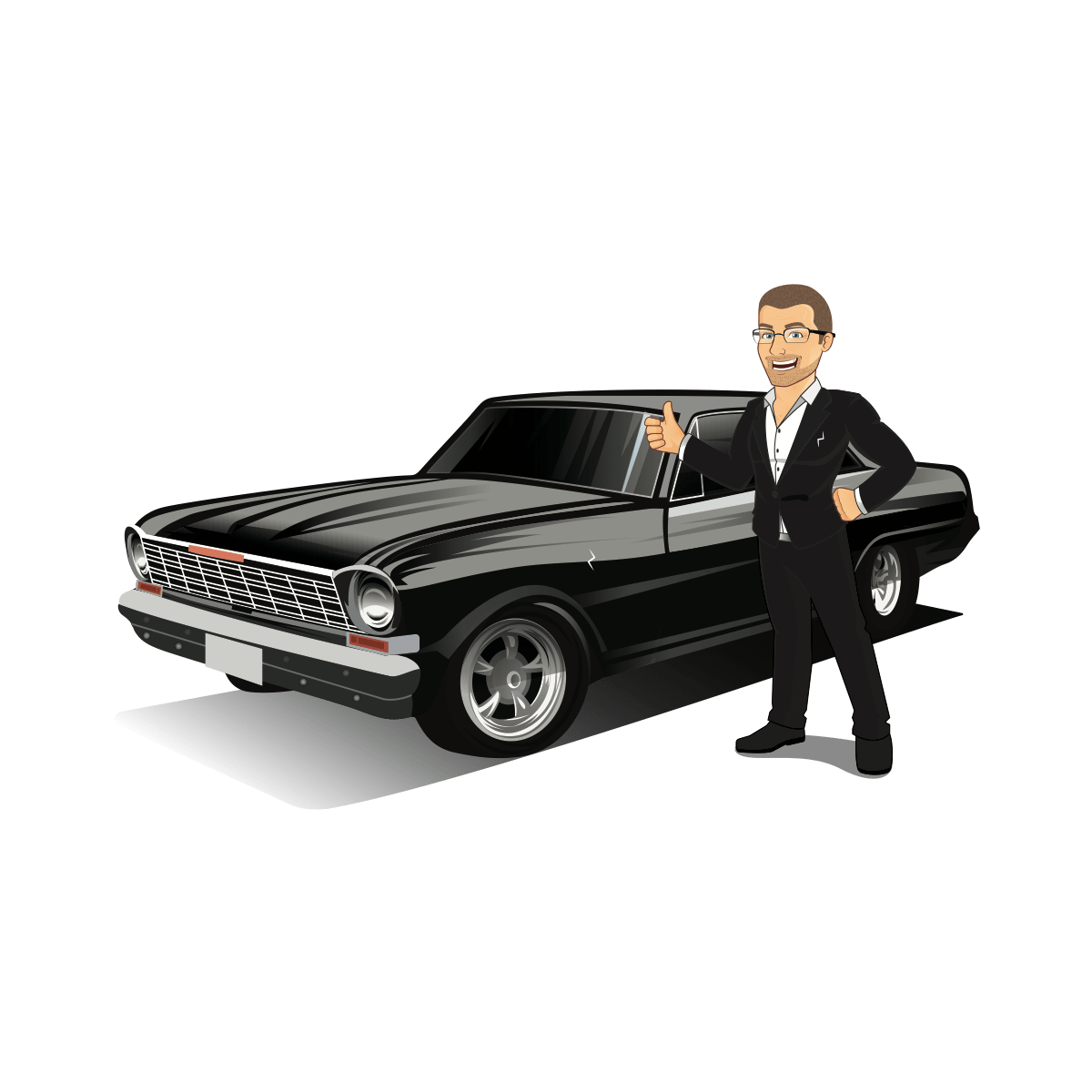 john c ashworth emoji with chevy nova