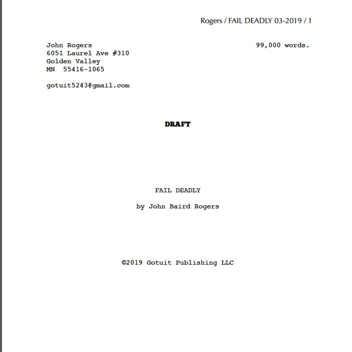 Fail Deadly Manuscript