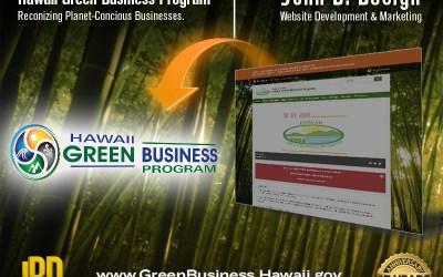 Hawaii Green Business Program. Logo Design.
