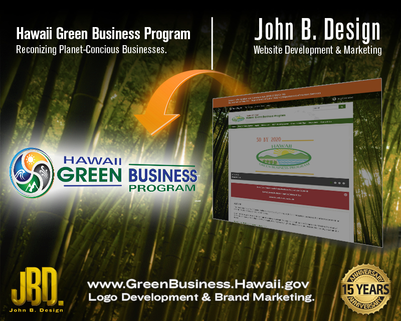 Hawaii Green Business Program. Logo Design.
