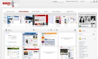 My BonzoBox homepage.