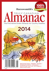 Harrowsmith's Truly Canadian Almanac 2014 cover.