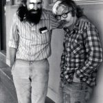 John Bennett and Al Masarik on a photo shoot for the cover of Masarik's book, An End to Pinball, Masarik a little the worse for wear… early 70s ...