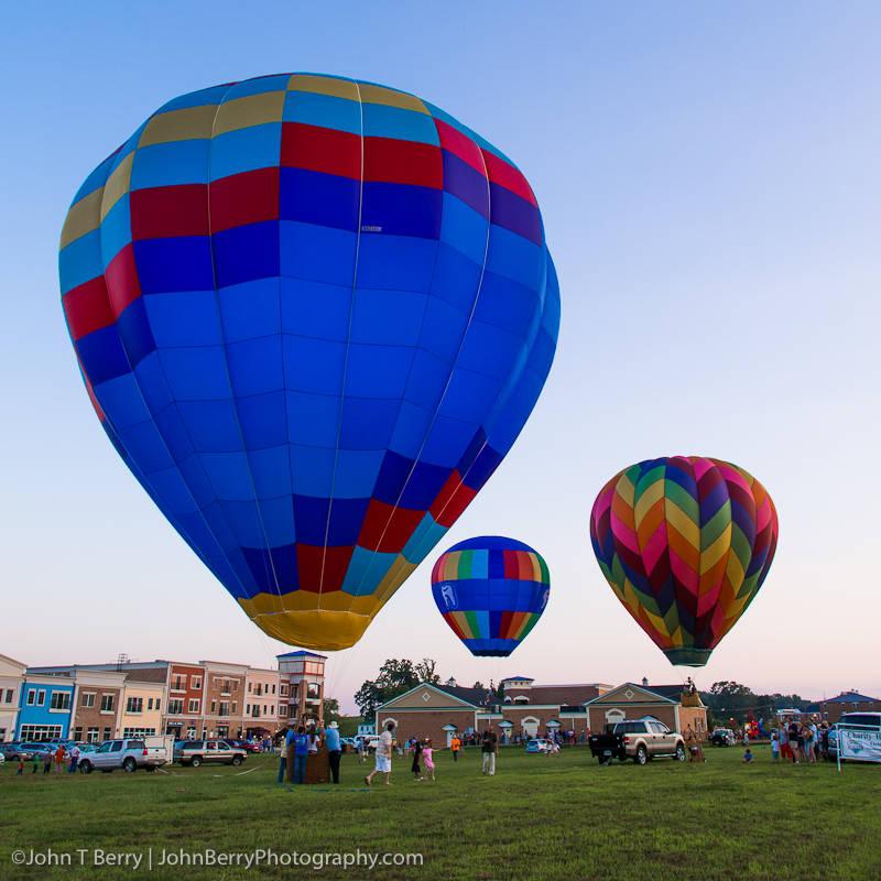 Tethered hot air balloon rides.