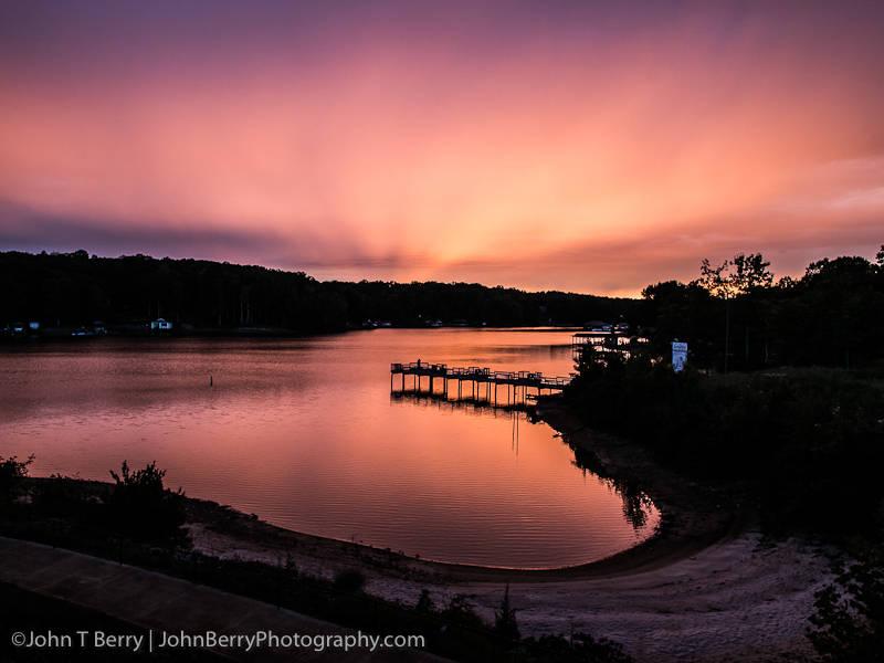 Sunset over Smith Mountain Lake Virginia