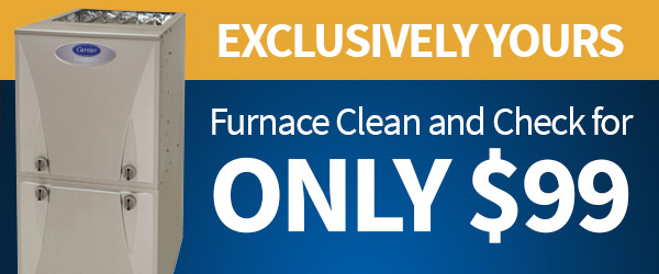 exclusive offer of $99 off for new residents on furnace clean and check from John Betlem