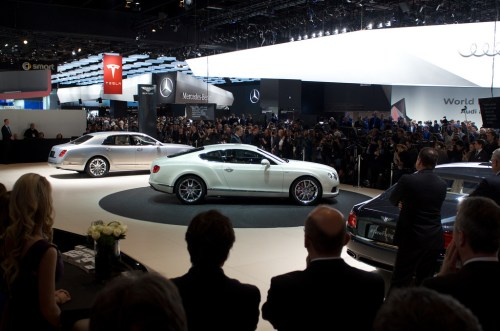 Crowds gather as Bentley shows their latest