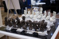 3D printed chess set and board