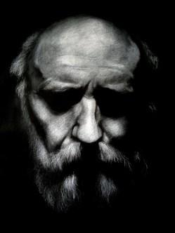 Self portrait pastel on paper