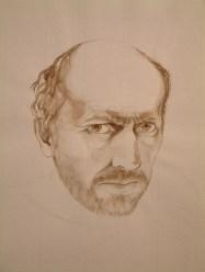Self portrait brush and wash