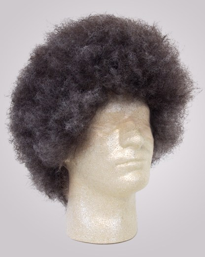 human hair afro salt and pepper