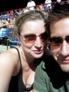 Rebecca and I at a Vancouver Canadians baseball game
