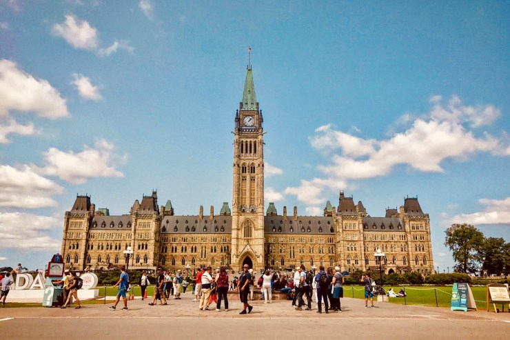 Parliament Hill in Ottawa This Past Summer
