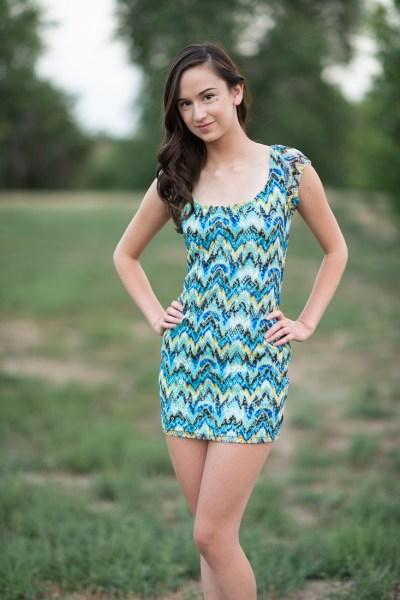 high school senior girl in a field