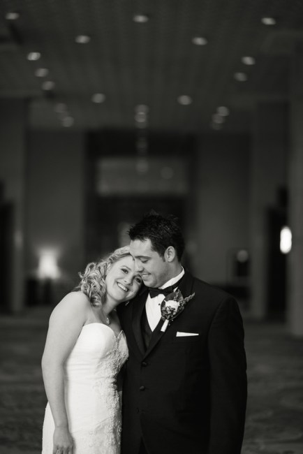 downtown denver wedding photography bride and groom black and white