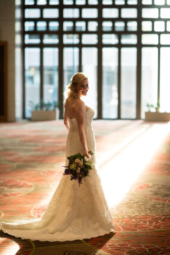 downtown denver wedding photography bride portrait