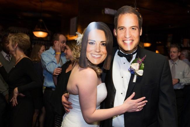 downtown denver wedding photography funny masks