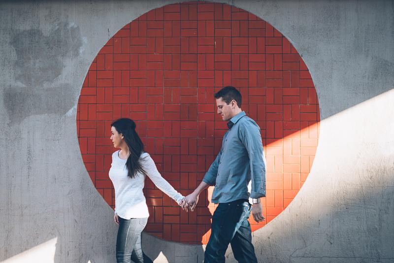 downtown denver engagement photography sakura square