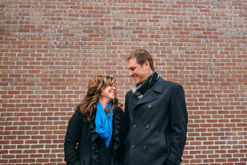 denver winter engagement photography