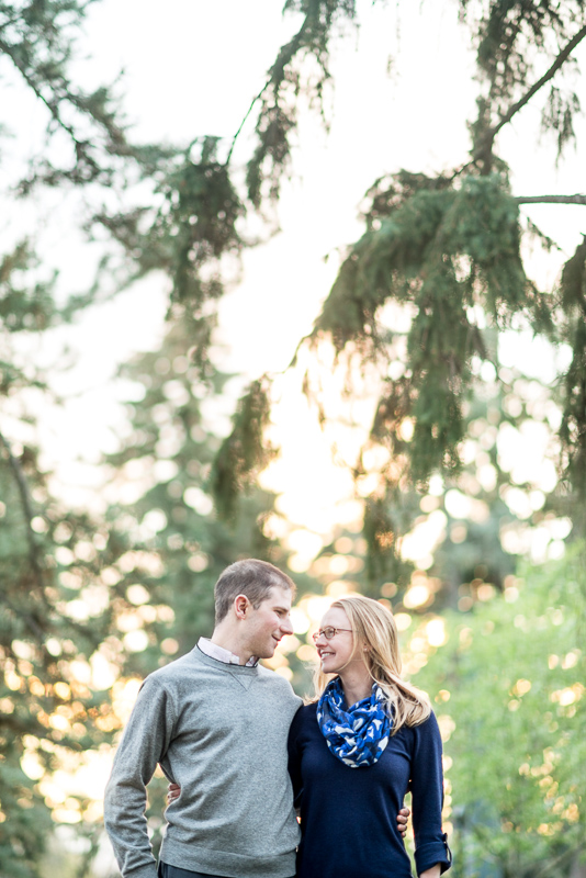 Denver Engagement Photography couple in beautiful trees