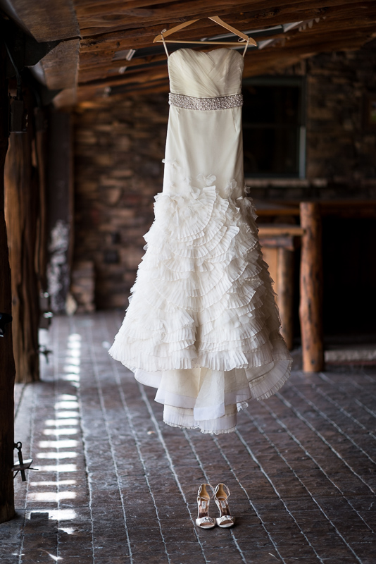 Spruce Mountain Ranch Wedding Photography wedding dress