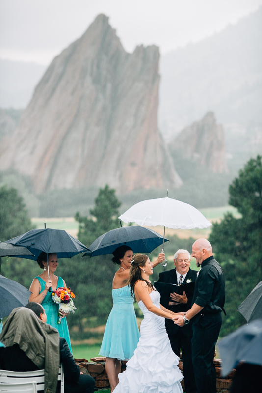 Denver Wedding Photography Arrowhead rainy ceremony