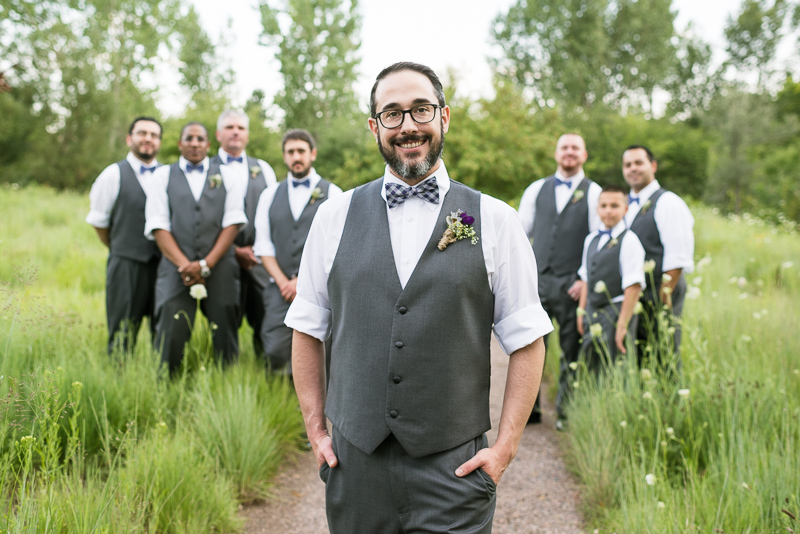 Denver Wedding Photographer Hudson Gardens guys