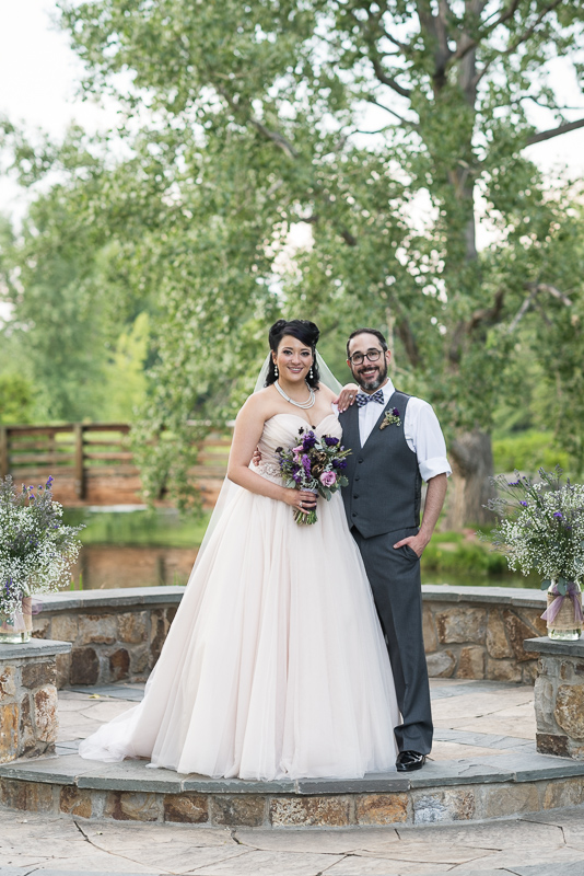 Denver Wedding Photographer Hudson Gardens portrait of couple