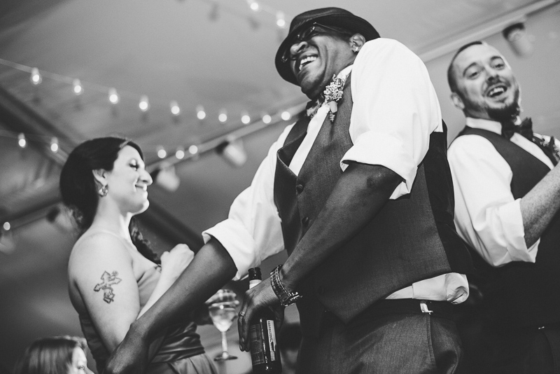 Denver Wedding Photographer Hudson Gardens reception dancing