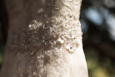 Golden Wedding Photographer dress detail