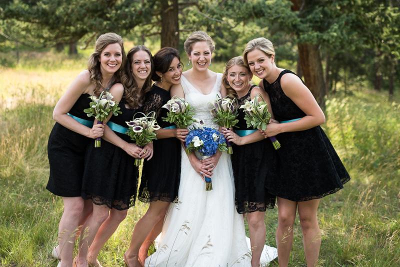 Golden Wedding Photographer bridesmaids smiling