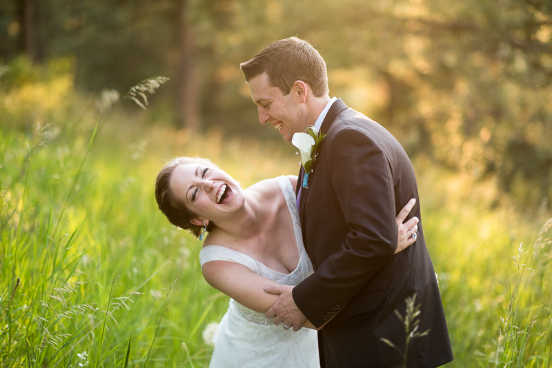 Golden Wedding Photographer laughing bride