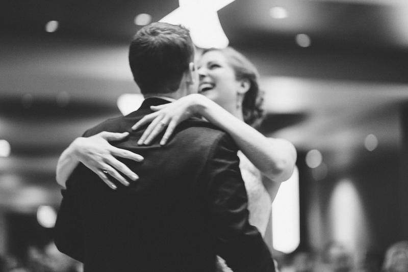 Golden Wedding Photographer first dance laughing bride