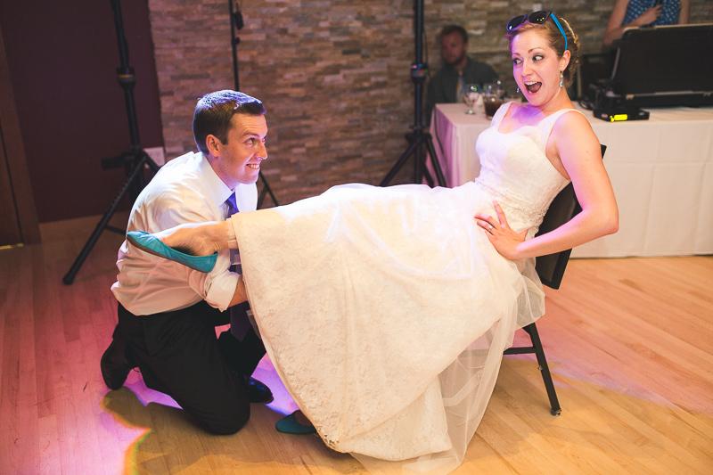 Golden Wedding Photographer garter