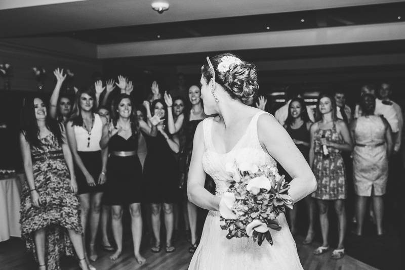 Golden Wedding Photographer bouquet toss