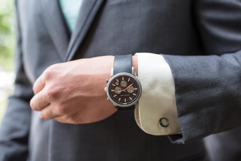Silverthorne Wedding Photographer groom watch