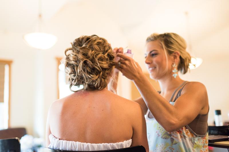 Silverthorne Wedding Photographer bride getting ready
