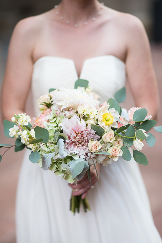 Denver Opera House Wedding Photographer bride bouquet