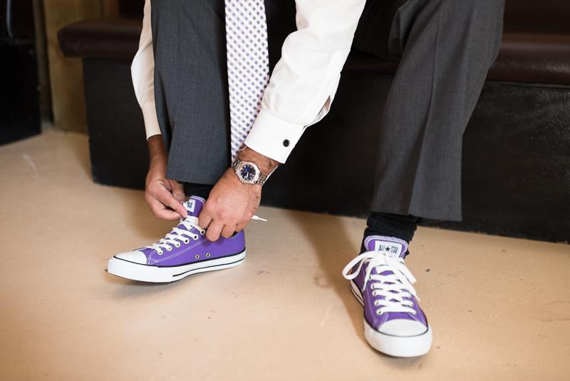 Palisade Wedding Photography purple converse
