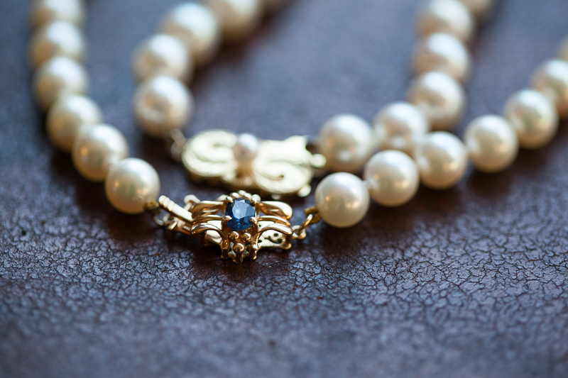 Boulder Wedding Photography vintage pearl necklace