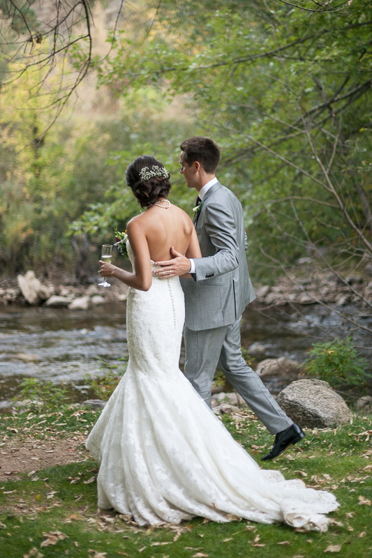 Boulder Wedding Photography walking near river