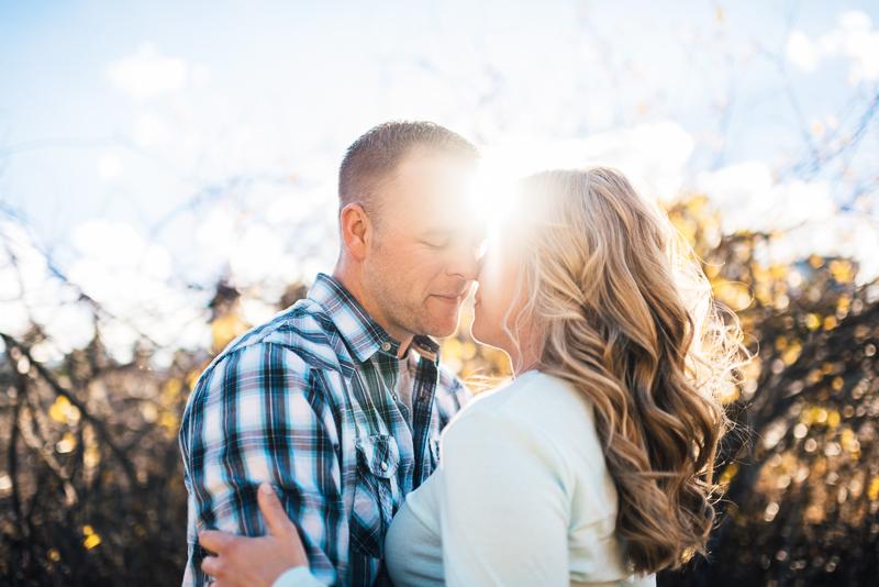 Denver Engagement Photographer backlight