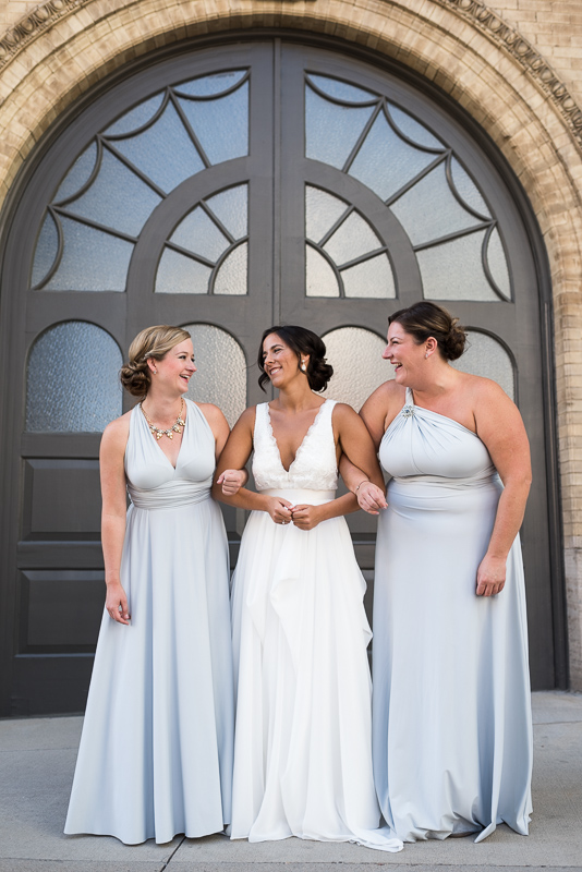 Denver Wedding Photography History Colorado ladies in front of door