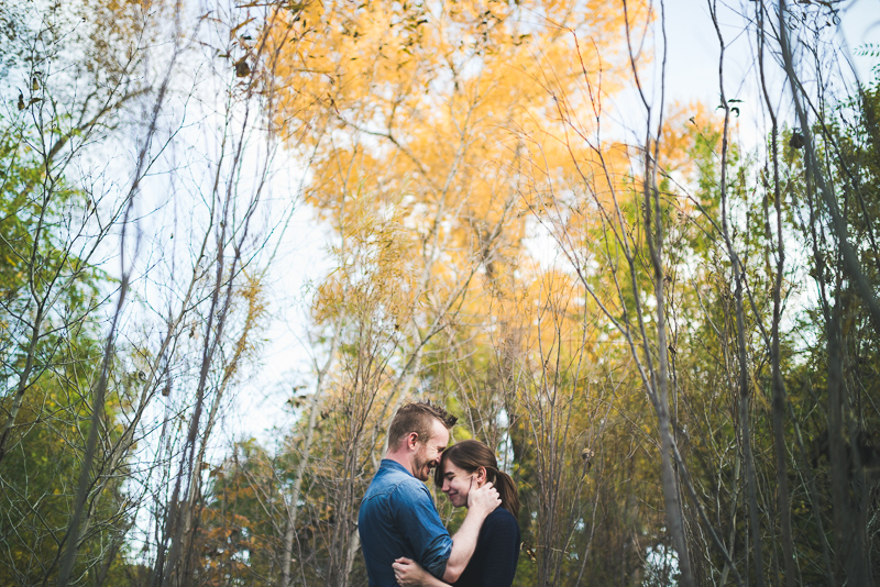 Denver Engagement Photography Chatfield Botanic Gardens laughing
